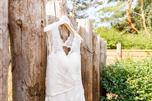 Brautkleid vor dem Ankleiden