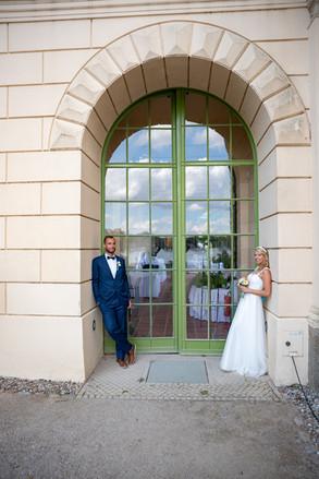 Brautpaar vor der Orangerie in Schwerin