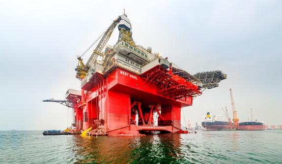 Ölplattform Fotografie in Singapur