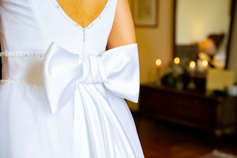 Brautkleid Schleife