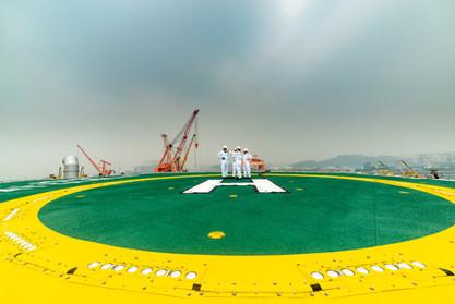 Hubschrauberlandeplatz Ölplattform