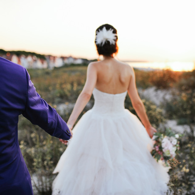 Brautpaarshooting zum Sonnenuntergang