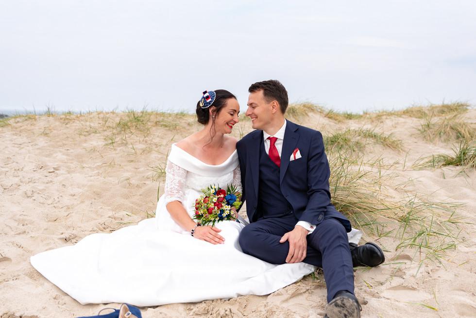 Brautpaar in den Dünen