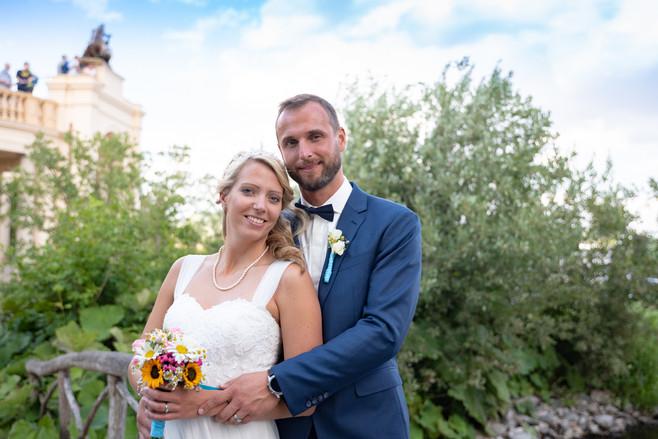 Brautpaar vor dem Schweriner Schloss