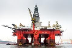 Ölplattform Fotografie vor Singapur