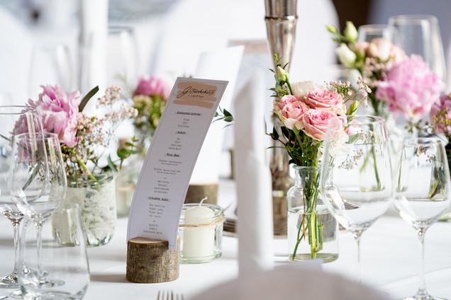 Tischdeko Hochzeit Schlossgut Groß Schwansee