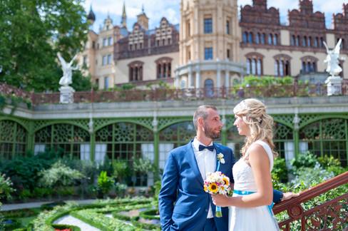 Hochzeitsshooting vor dem Schweriner Schloss
