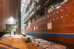 Eindockprozess MV Werft