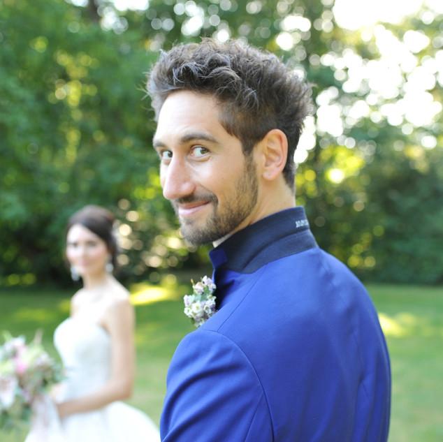 Bräutigam am Hochzeitstag