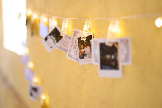 Polaroid Hochzeitsschnappschüsse