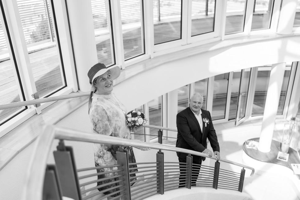 Brautpaar im Hotel Hübner