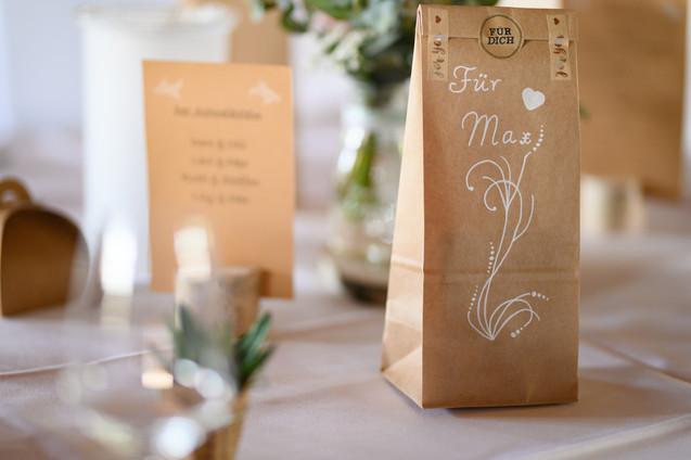 Tischdekoration Hochzeitstisch