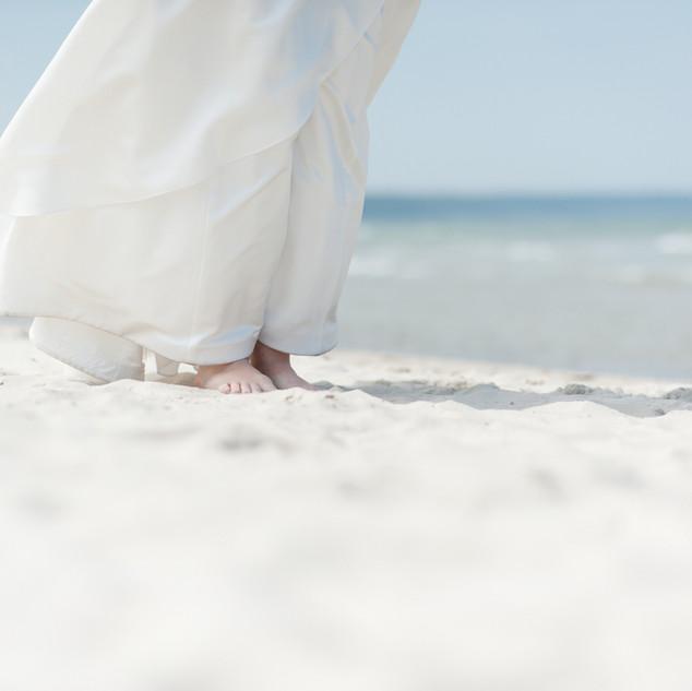 Braut am Ostseestrand