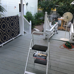 Clearing off the deck