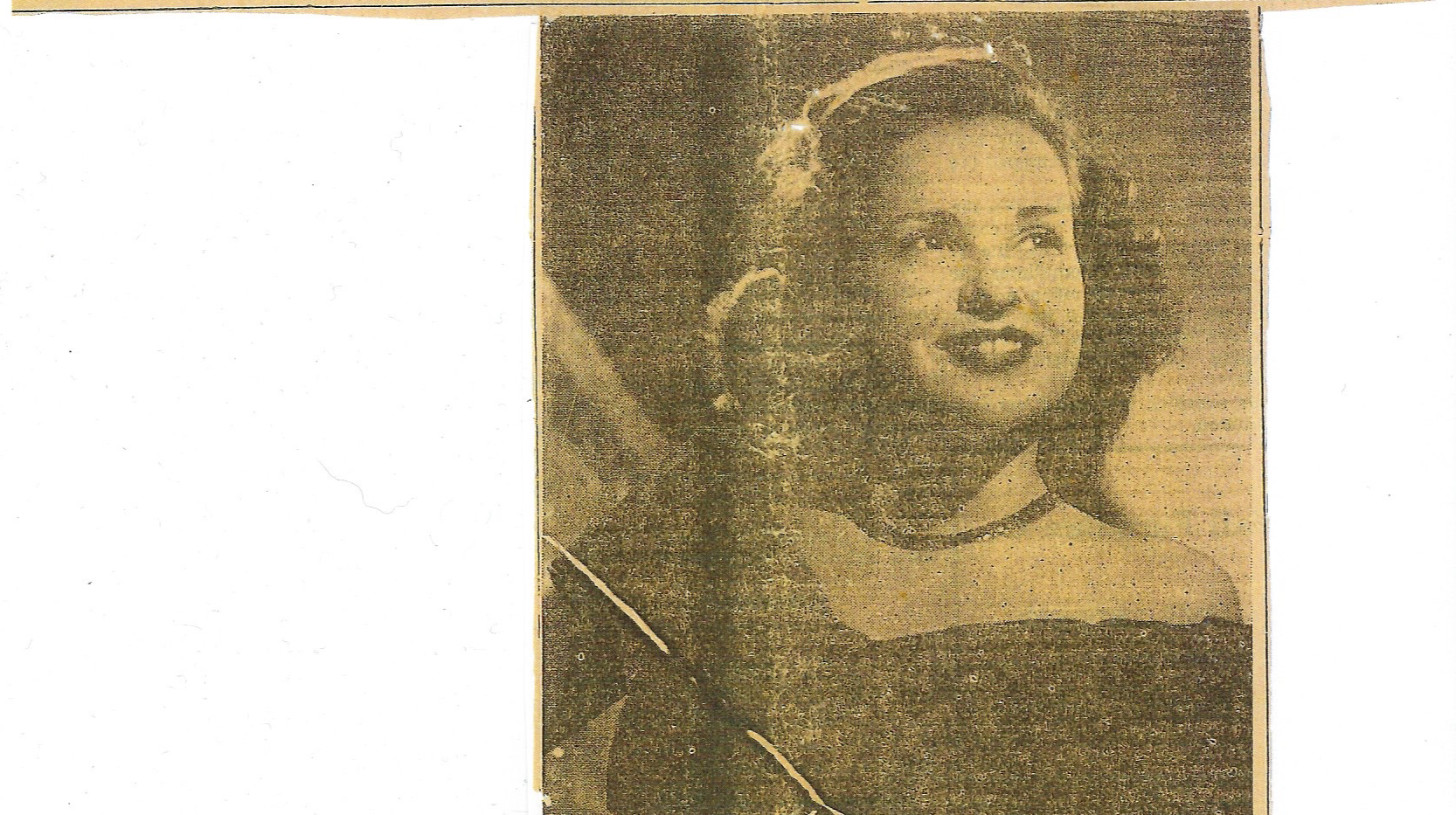 Denton Journal announcing 1950 Aggie Sweetheart