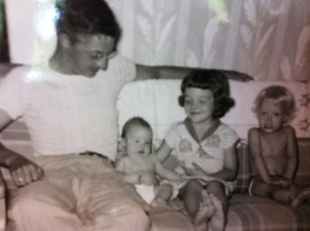 Judy as a little girl with Dad n sibling