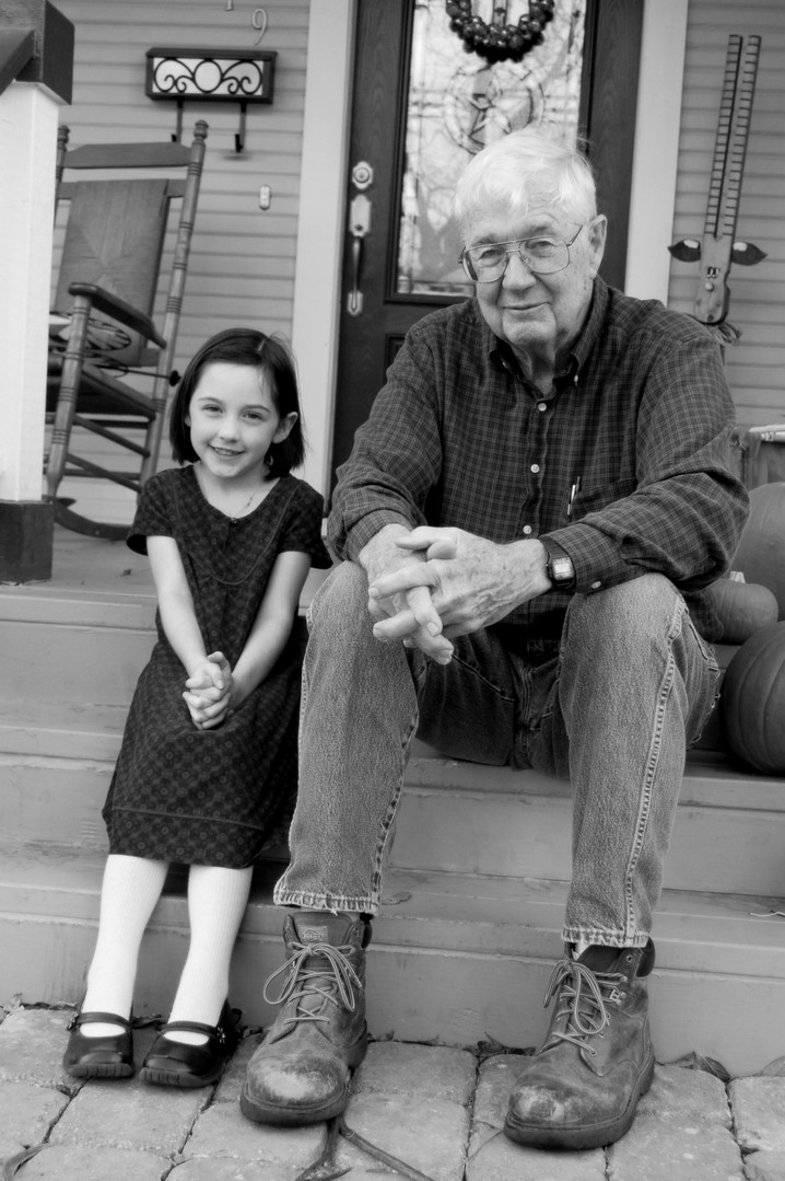 PawPaw Casey and his oldest great grand, Audrie
