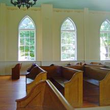 In a church pew