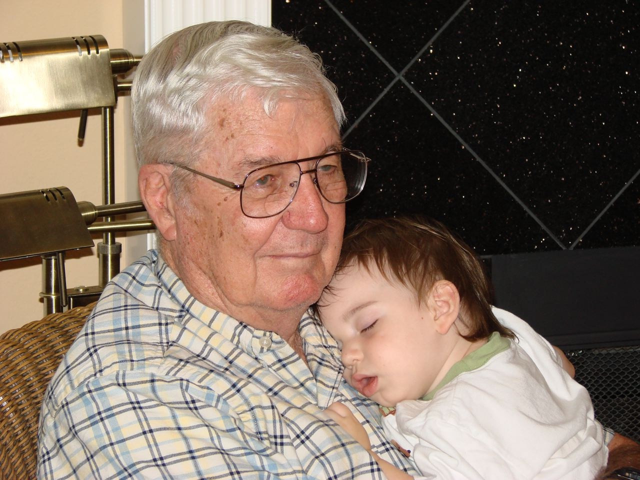 PawPaw Casey and Finn, his second great grand
