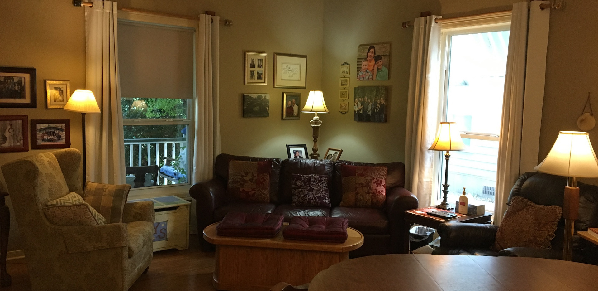 After living room - open drapes