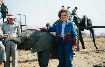 Dorothy enjoying baby elephant