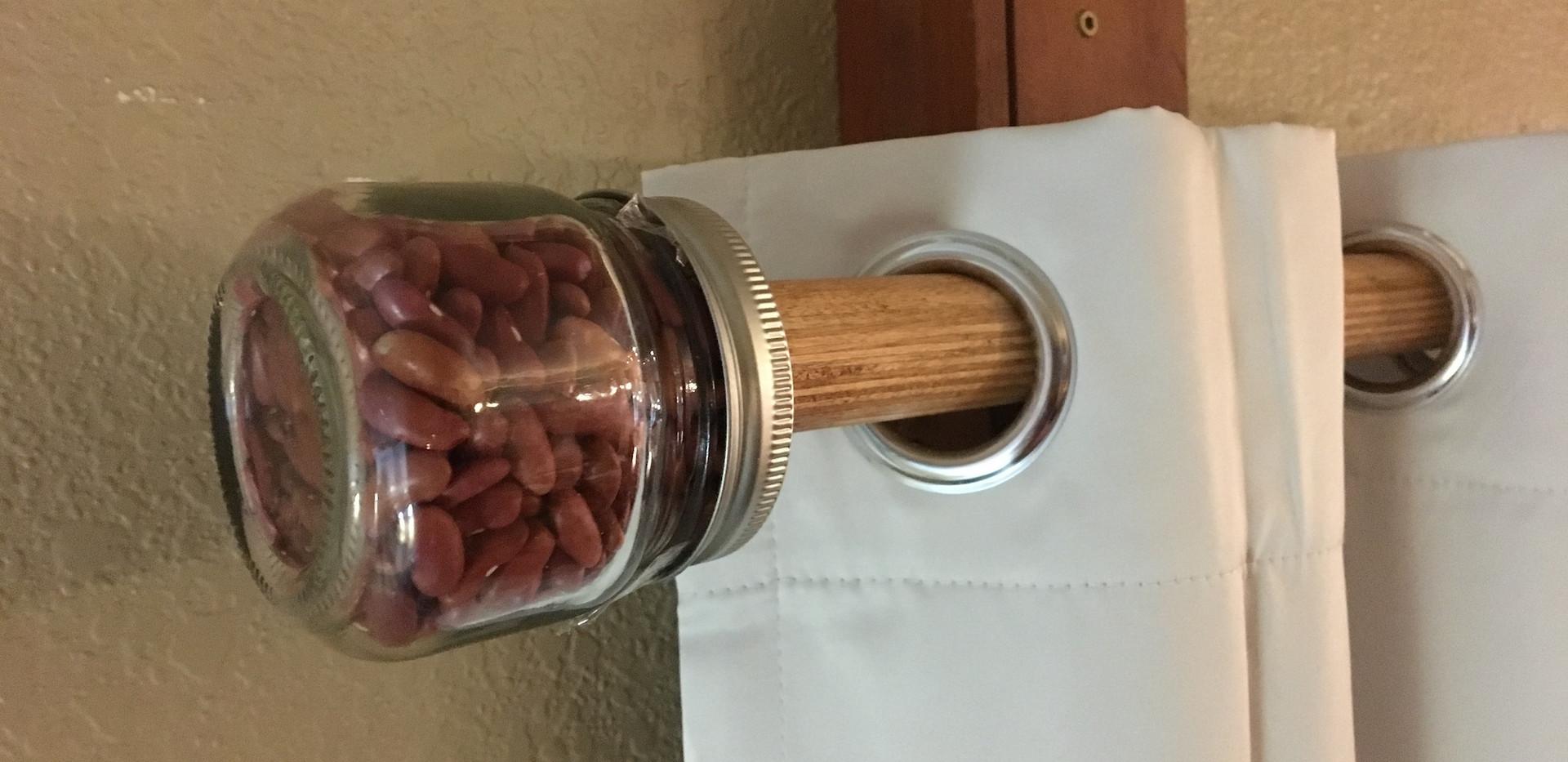 Kidney bean finial