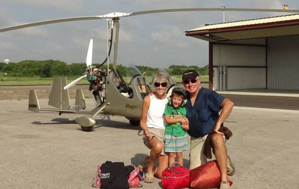 Grandson Hayes seeing his grandparents off on another adventure