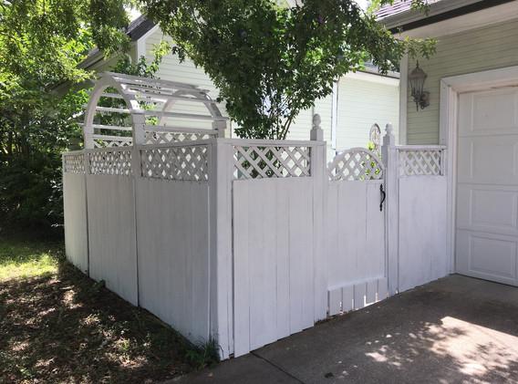 White fence finished outside