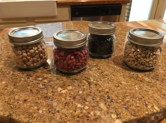 Bean-filled jars