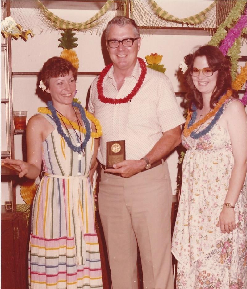 Dad receiving an award