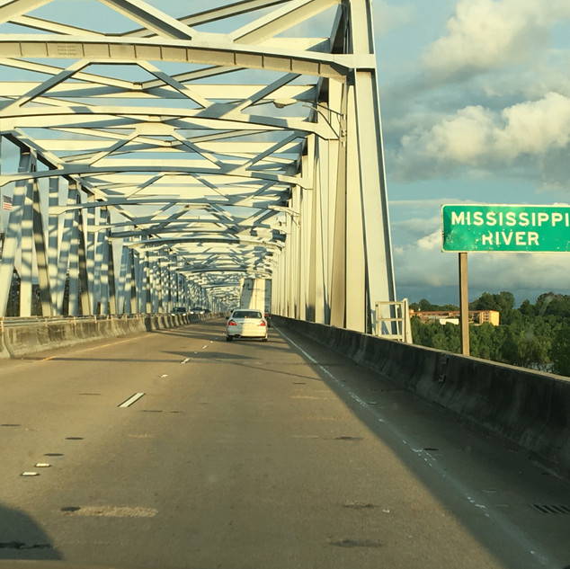 Leaving Louisiana; entering Mississippi