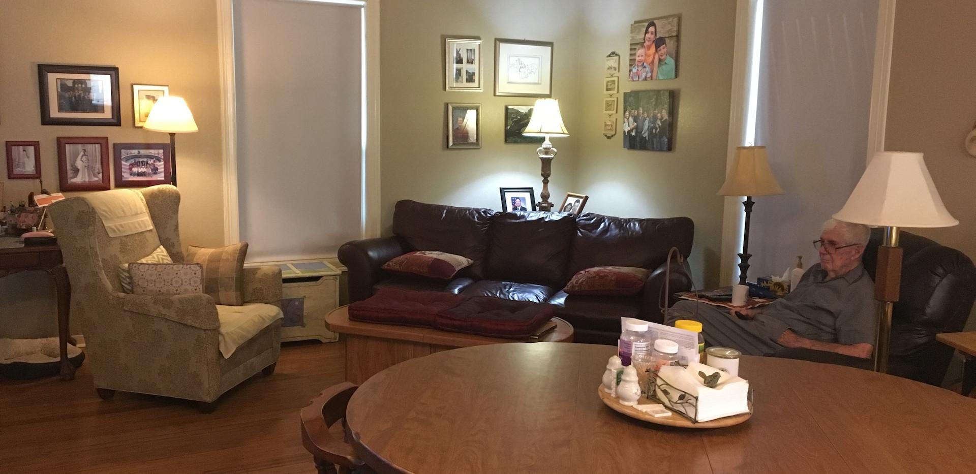 No drapes in rearranged room