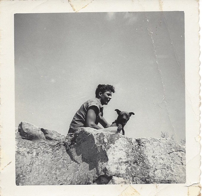 Jimmy on San Cajo Mountain southwest of Simmons, summer of 1951