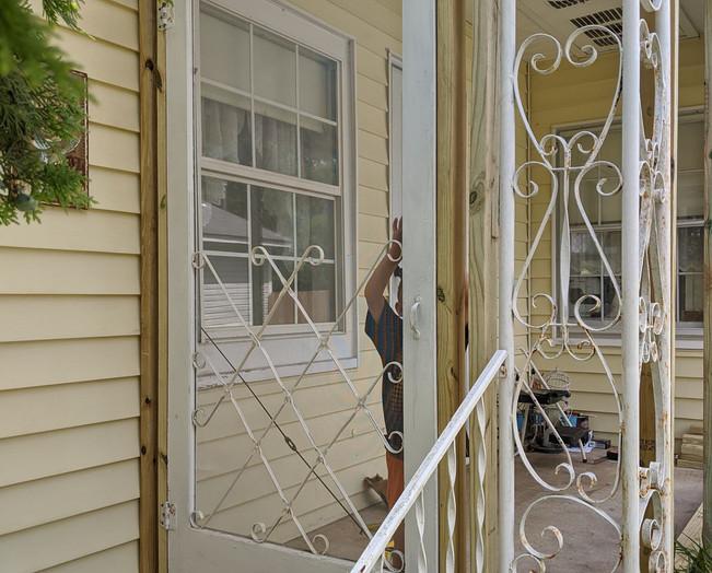 Adding the screen door