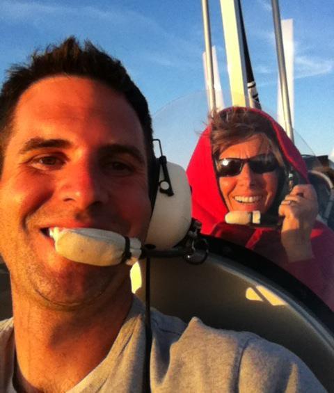 Dayton n Kathy flying