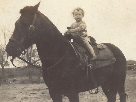 Jimmy on his grandfather Murray's horse