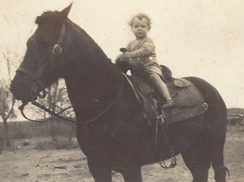Jimmy atop his Pappy Murray's horse