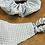 Thumbnail: Handmade Mask & Scrunchie in Pale Blue Gingham