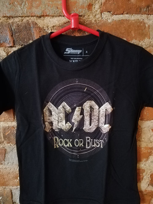 Tuta Shirts Kids ACDC Rock or Bust