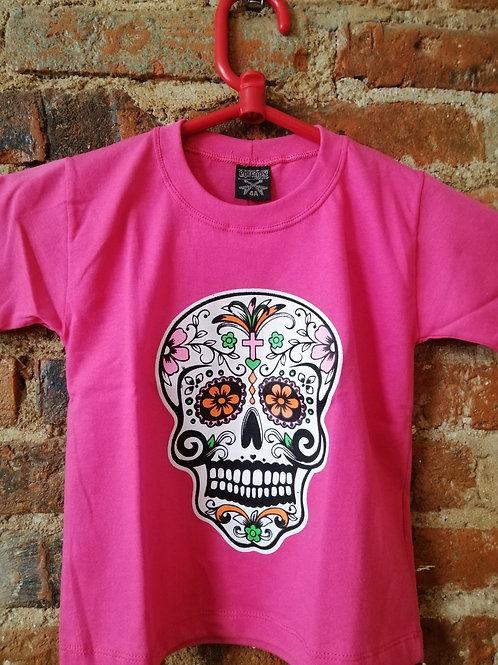 Tuta Shirts Kids Caveira Mexicana