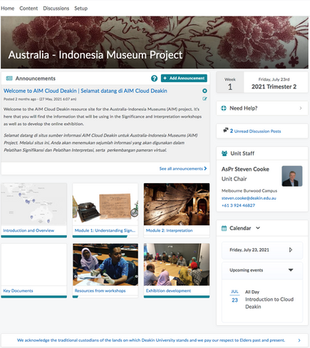 Launch of the online learning platform for the Australia-Indonesia Museums (AIM) Project