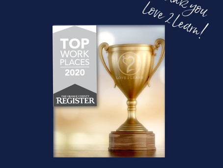 Love 2 Learn Earns Top Workplaces 2020