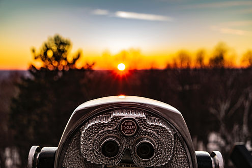 Telescope at a sunset