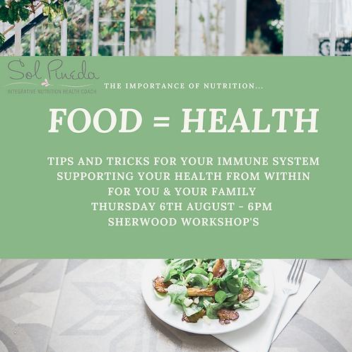 FOOD = HEALTH Workshop