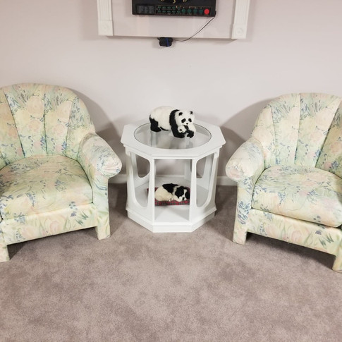 2 Chairs - $25 each. Table $20.