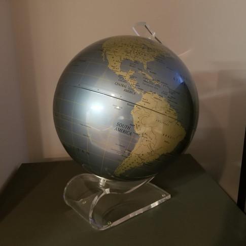 Contemporary Globe with Acrylic Base