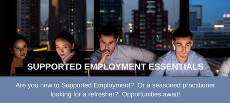 supported employment essentials poster