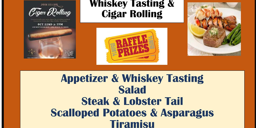 Saturday Cigar Night- Steak & Lobster Tail- $60 Per Person