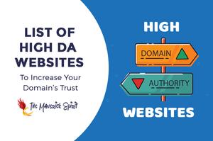 list of high DA websites backlinks dofollow nofollow linkbuilding weblist 2020