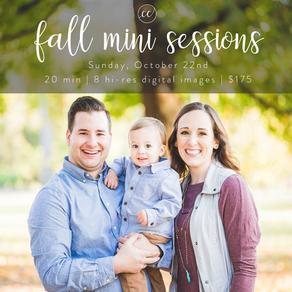 Introducing: Fall Mini Sessions!